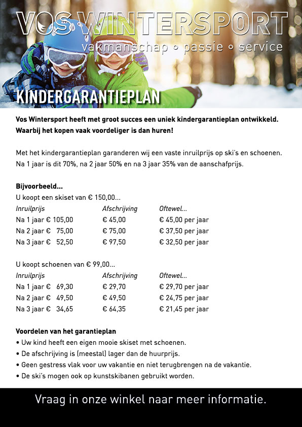 Kinder Garantie Plan Vos Wintersport