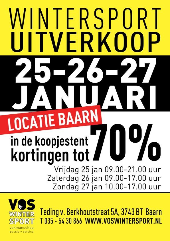 Wintersportbeurs bij Vos Wintersport in Baarn op 25, 26 en 27 januari 2019